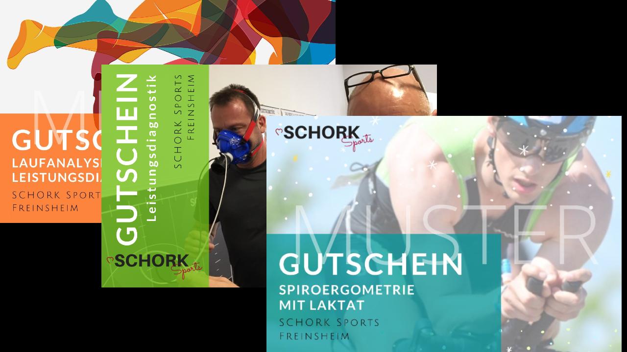 Gutschein Laufanalyse - Leistungsdiagnostik - EMS Training - SCHORK Sports