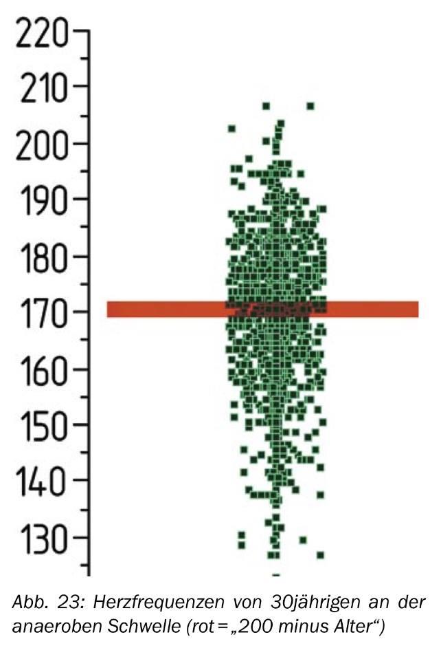 Laufen mit individuellen Werten - Perzentilendiagramm